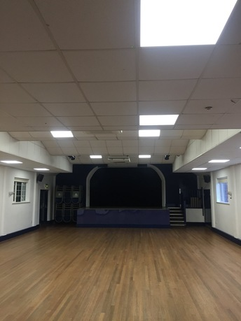 Fully lit performance hall