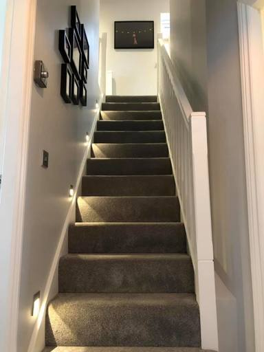 low-level LED lighting for domestic staircase