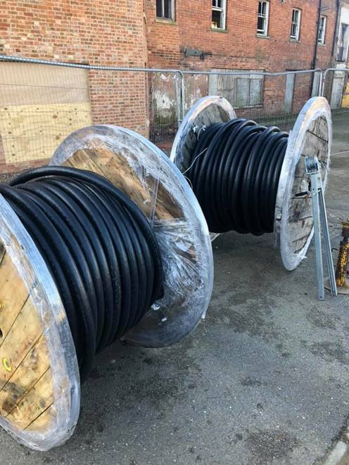 Drums of steel wire armoured cable in Northampton