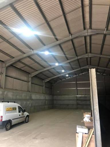Lighting installed in a new barn