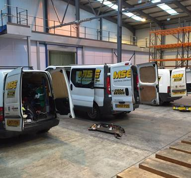 MSE vehicles on site in Daventry